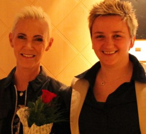 Marie and me before her last show in Umeå, April 2014.